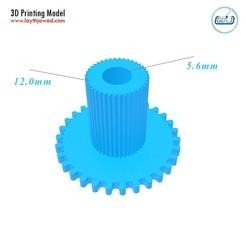 01.jpg Télécharger fichier STL Un engrenage pour pousser le filament vers l'extrudeuse • Plan pour impression 3D, LaythJawad