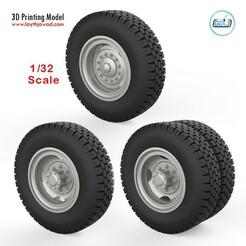 000 (1).jpg Télécharger fichier STL Roues de camion 1/32 • Modèle à imprimer en 3D, LaythJawad