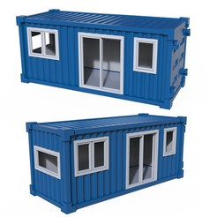 01.jpg Download STL file Container House • Object to 3D print, LaythJawad