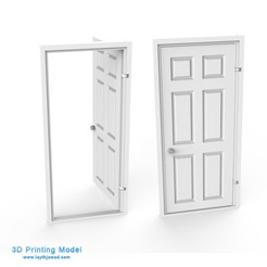 Download 3DS file DOOR • 3D printable design, LaythJawad