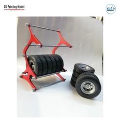 07.jpg Download STL file Tyre Rack • 3D printing object, LaythJawad
