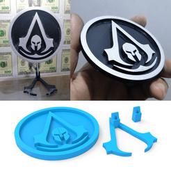 00.png Télécharger fichier STL Logo de l'Odyssée de l'Assassinat • Design imprimable en 3D, LaythJawad