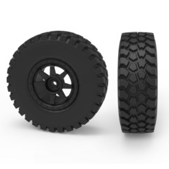 00.jpg Download 3DS file Rough Terrain Tire • 3D print template, LaythJawad