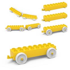 Download 3D printer designs LEGO CAR, LaythJawad