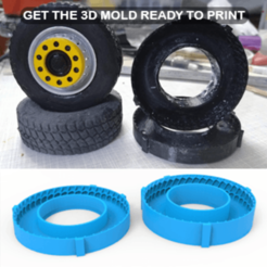 01.png Download 3DS file TRUCK WHEEL Mold • 3D printer design, LaythJawad