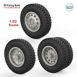00.jpg Download STL file Truck wheels 1/32 • 3D print template, LaythJawad