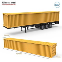 00.jpg Download STL file Container Trailer 1:32 • 3D printer design, LaythJawad