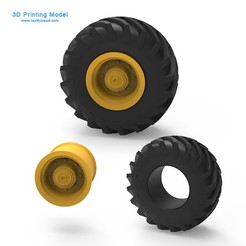 00.jpg Download 3DS file Tractor Tire • 3D printer template, LaythJawad