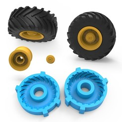 00.jpg Download 3DS file Tractor Tire Mold • Object to 3D print, LaythJawad