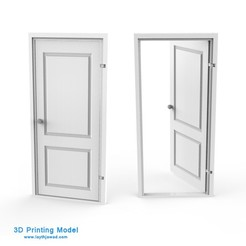 Download 3DS file Door • Model to 3D print, LaythJawad