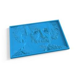 01.jpg Télécharger fichier STL Albert Einstein - Panel 3D • Objet pour imprimante 3D, LaythJawad