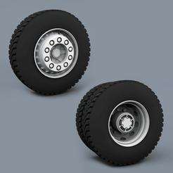 Descargar modelos 3D para imprimir RUEDAS CAMIÓN, LaythJawad