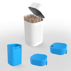 00.png Download 3DS file Toothpicks container • Object to 3D print, LaythJawad