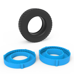 00.png Download 3DS file Truck Tire Mold • 3D print design, LaythJawad