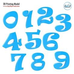 01.jpg Download STL file Numbers • 3D printing template, LaythJawad