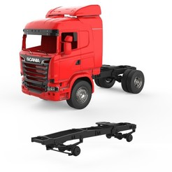 00.jpg Download 3DS file Chassis Scania R730 V8 • 3D printable model, LaythJawad