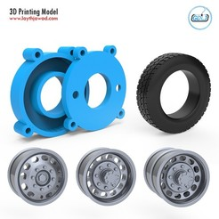 000.jpg Download STL file Truck Tire Mold With 3 Wheels • 3D print model, LaythJawad