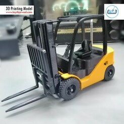 01.jpg Download STL file Clark S20 53 Forklift Truck - PRO version • 3D printer object, LaythJawad