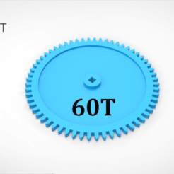 Download 3D printing designs Gear 60T, LaythJawad