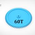 Download 3D printing designs Gear 60T, LaythJawad
