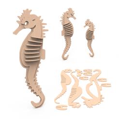 00.png Download 3DS file Sea Horse • 3D printer design, LaythJawad