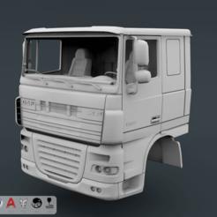 Télécharger fichier imprimante 3D DAF XF 105 Cabine, LaythJawad