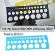 01.jpg Download free STL file Holes - Size Circle • 3D printable template, LaythJawad