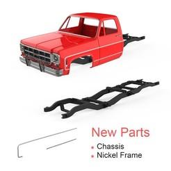 """00.jpg Télécharger fichier STL Chevrolet K30 1979 Modèle d'impression 3D - Pièces neuves """" Châssis, cadre en nickel • Design pour imprimante 3D, LaythJawad"""