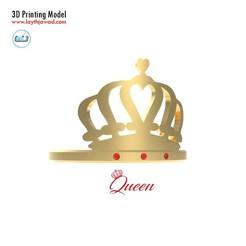 04.jpg Download STL file Queen Ring • 3D printing model, LaythJawad