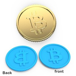 00.jpg Download 3DS file Bitcoin coin • Design to 3D print, LaythJawad