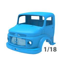 6.png Download 3DS file Mercedes-Benz 1924 2624 Truck Cabin • 3D printing template, LaythJawad
