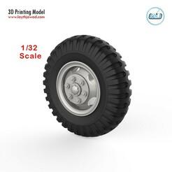 00.jpg Download STL file Vehicle wheels 1/32 • 3D printable template, LaythJawad