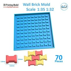 24.jpg Download STL file Sidewalk bricks Mold 1:32 1:35 • 3D printer model, LaythJawad