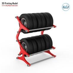 01.jpg Download STL file Tyre Rack • 3D printing object, LaythJawad