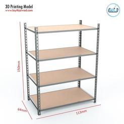 01.jpg Télécharger fichier STL Unité d'étagère • Modèle pour imprimante 3D, LaythJawad