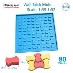 4875.jpg Download STL file Sidewalk bricks Mold 1:32 1:35 • 3D printer model, LaythJawad