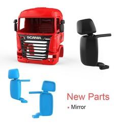 01_large.jpg Download STL file Scania R730 V8 Cabin - New Part - Mirror • 3D printing template, LaythJawad
