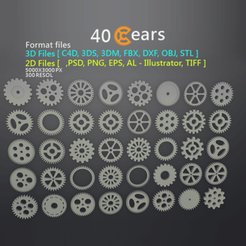 Download 3D model 40 Gears, LaythJawad