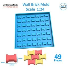 02.jpg Download STL file Sidewalk bricks Mold 1:24 • Object to 3D print, LaythJawad