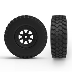 000.jpg Download 3DS file Rough Terrain Tire • 3D print template, LaythJawad