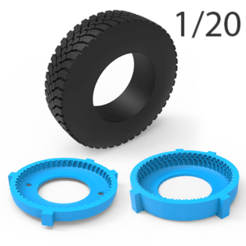 01.png Download 3DS file TRUCK TIRE MOLD 1/20 • 3D printer template, LaythJawad
