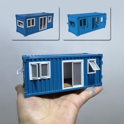 00.jpg Download STL file Container House • Object to 3D print, LaythJawad