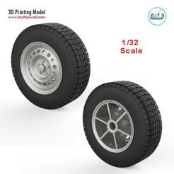 00.jpg Télécharger fichier STL Roues de véhicules 1/32 • Plan à imprimer en 3D, LaythJawad