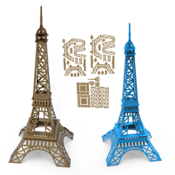 Download 3D printing files Eiffel tower 3D Model, LaythJawad