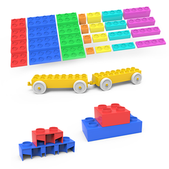 Download 3D printing designs LEGO Cubes, LaythJawad