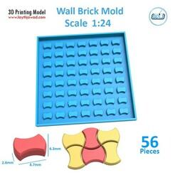 3487.jpg Download STL file Sidewalk bricks Mold 1:24 • Object to 3D print, LaythJawad