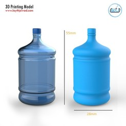 01.jpg Download STL file Big Plastic Bottle • 3D printer object, LaythJawad