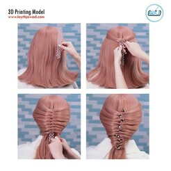 000.jpg Download GCODE file Hairstyle • Design to 3D print, LaythJawad