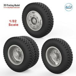 00.jpg Télécharger fichier STL Roues de camion 1/32 • Modèle à imprimer en 3D, LaythJawad