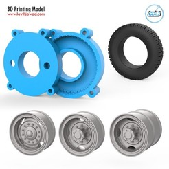 01.jpg Download STL file Truck Tire Mold With 3 Wheels • 3D print model, LaythJawad